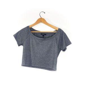 Grey Crop Top • F21 • Large
